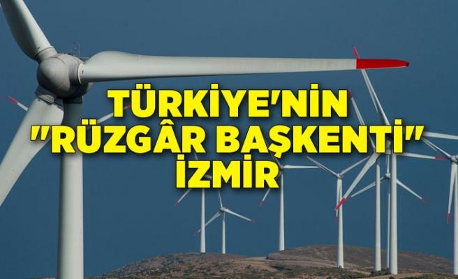 """Türkiye'nin """"rüzgâr başkenti"""" İzmir"""