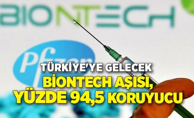 Türkiye'ye gelecek BioNTech aşısı, yüzde 94,5 koruyucu