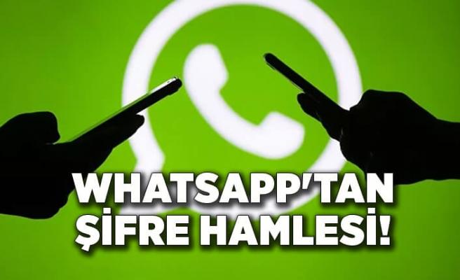 WhatsApp'dan şifre hamlesi