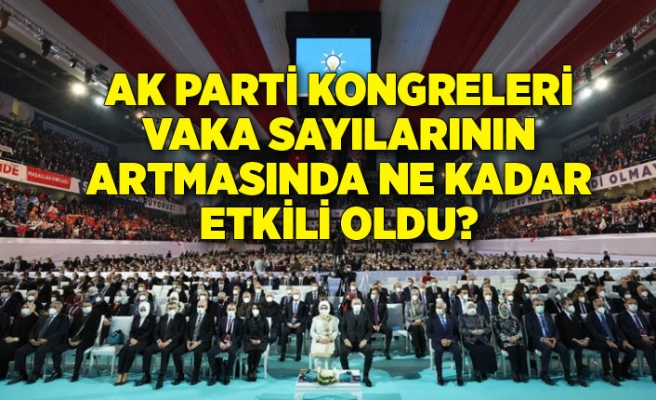 AK Parti kongreleri vaka sayılarının artmasında ne kadar etkili oldu?