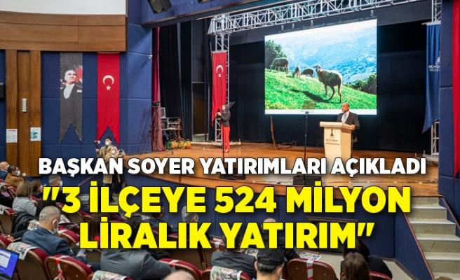 Başkan Soyer Menderes, Torbalı ve Tire'de yaptıkları yatırımları açıkladı