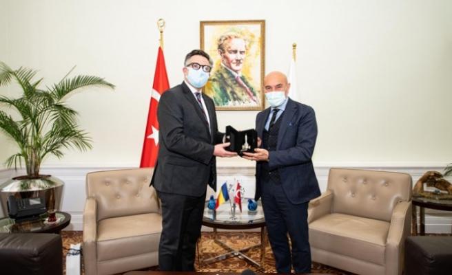 Başkan Soyer Romanya'nın Ankara Büyükelçisi Tinca'yı ağırladı