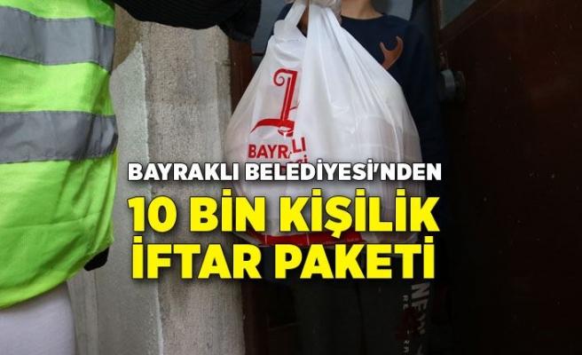 Bayraklı Belediyesi'nden 10 bin kişilik iftar paketi