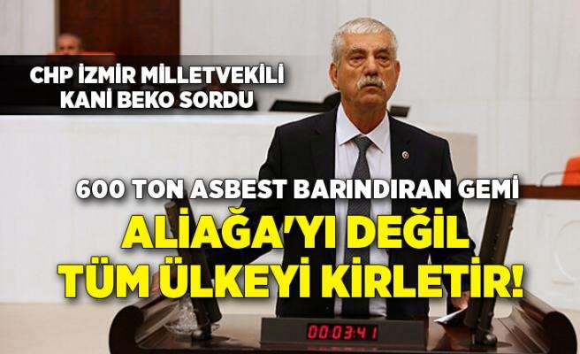 CHP İzmir Milletvekili Kani Beko, Çevre ve Şehircilik Bakanı Murat Kurum'a sordu
