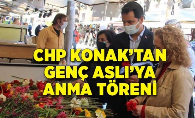 CHP Konak'tan genç Aslı'ya anma töreni