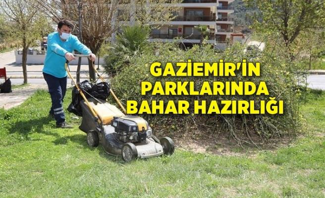 Gaziemir'in parklarında bahar hazırlığı