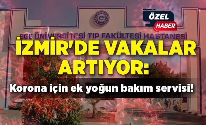 İzmir'de vakalar artıyor: Korona için ek yoğun bakım servisi!