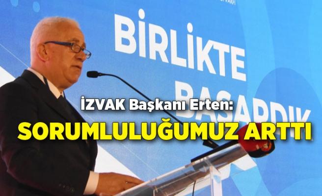İZVAK Başkanı Erten: Sorumluluğumuz arttı