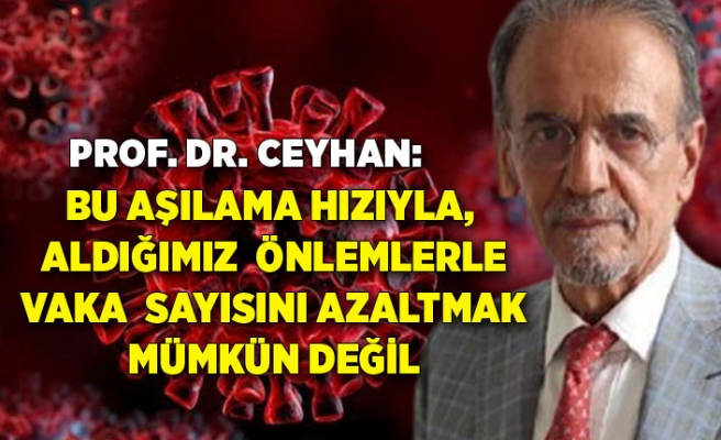 Prof. Dr. Ceyhan: Bu aşılama hızıyla, aldığımız önlemlerle vaka sayısını azaltmak mümkün değil