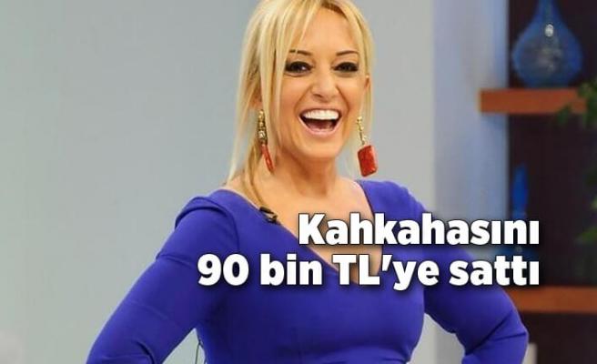 Saba Tümer kahkahasını 90 bin TL'ye sattı
