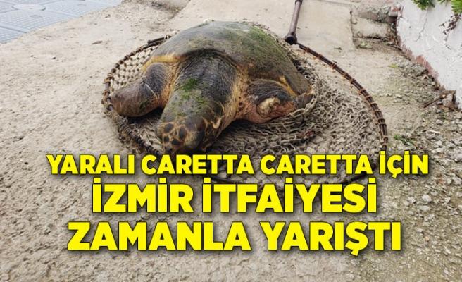 Yaralı Caretta caretta için İzmir İtfaiyesi zamanla yarıştı