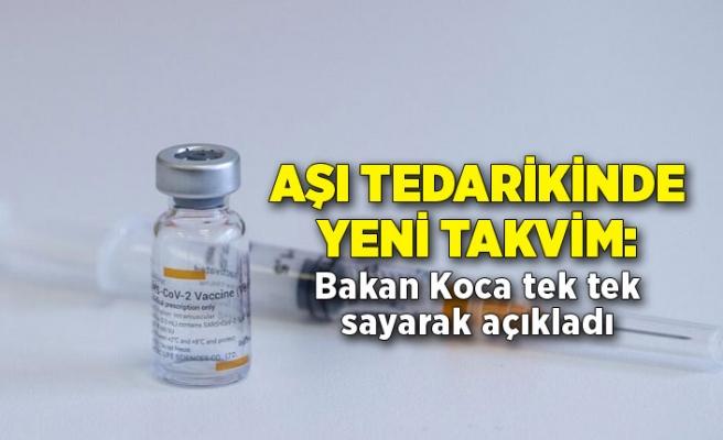 Aşı tedarikinde yeni takvim: Sağlık Bakanı Koca tek tek sayarak açıkladı