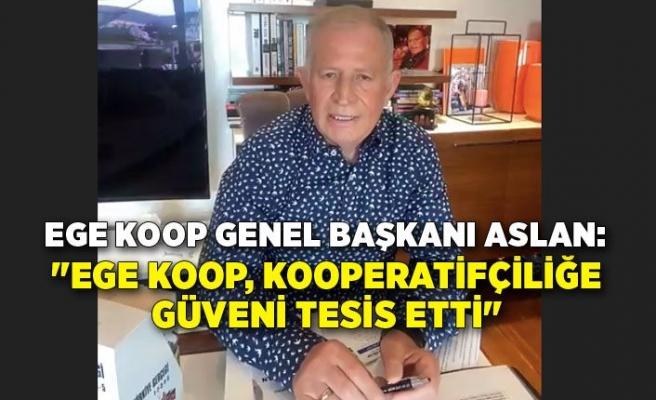 """Aslan: """"Ege Koop, kooperatifçiliğe güveni tesis etti"""""""