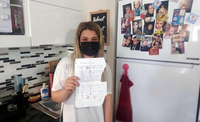 Depremde kaybettiği annesine 10 yıl önce yazdığı mektup, enkazdan çıktı