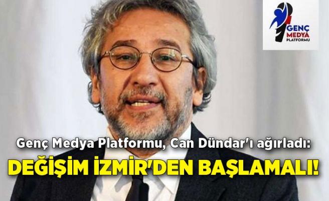 Genç Medya Platformu, Can Dündar'ı ağırladı: Değişim İzmir'den başlamalı!