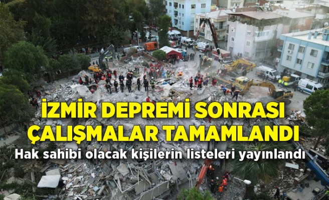 İzmir Depremi sonrası çalışma tamamlandı