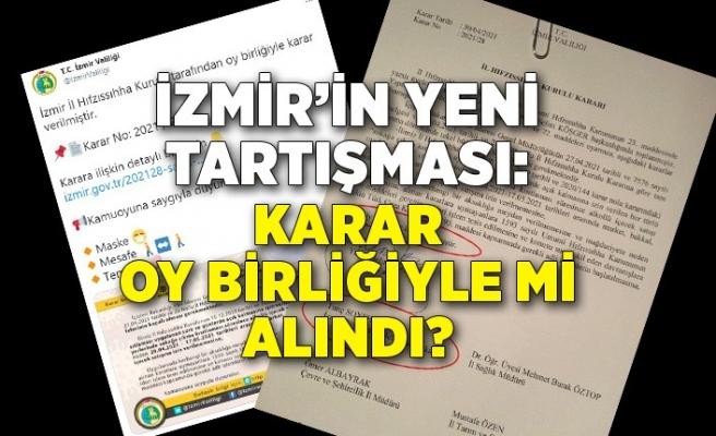İzmir'in yeni tartışması: Karar oy birliğiyle mi alındı?