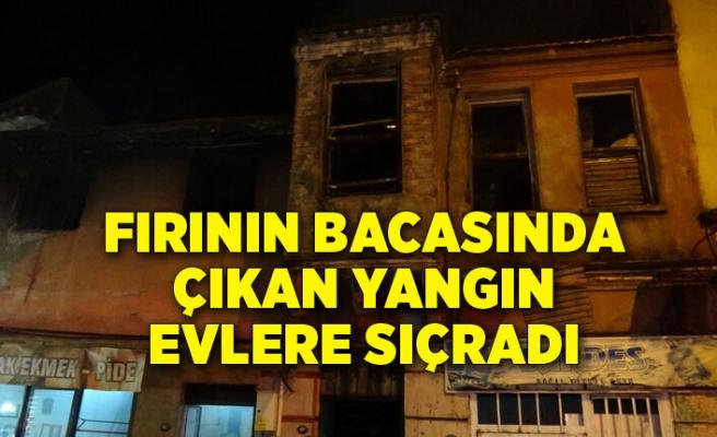 İzmir Konak'ta fırının bacasında çıkan yangın 3 eve sıçradı
