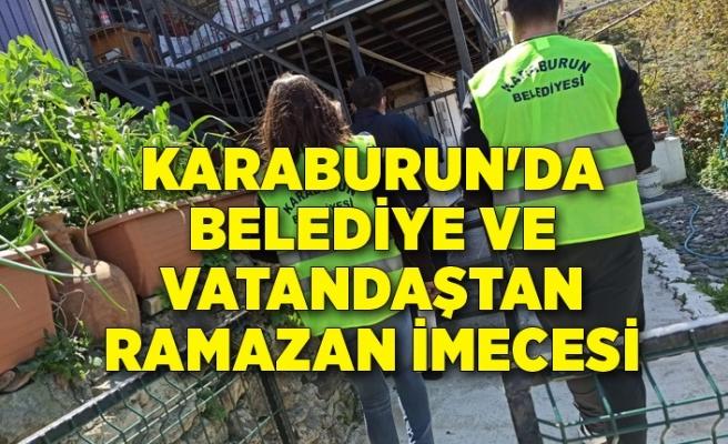 Karaburun'da Belediye ve vatandaştan Ramazan imecesi
