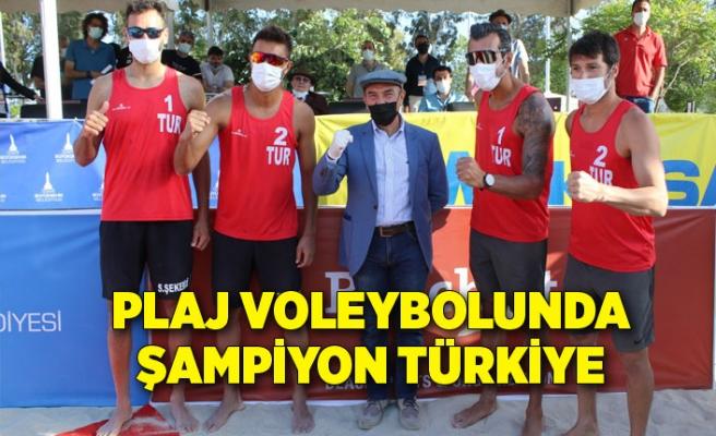 Plaj voleybolunda şampiyon Türkiye