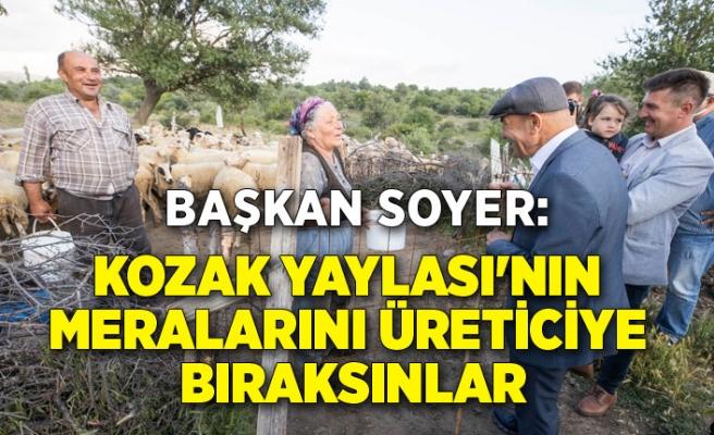 Soyer: Kozak Yaylası'nın meralarını üreticiye bıraksınlar