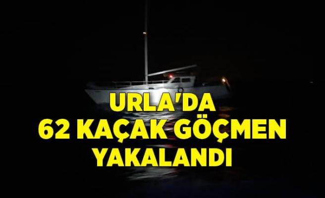 Urla'da 62 kaçak göçmen ve 2 göçmen kaçakçısı yakalandı