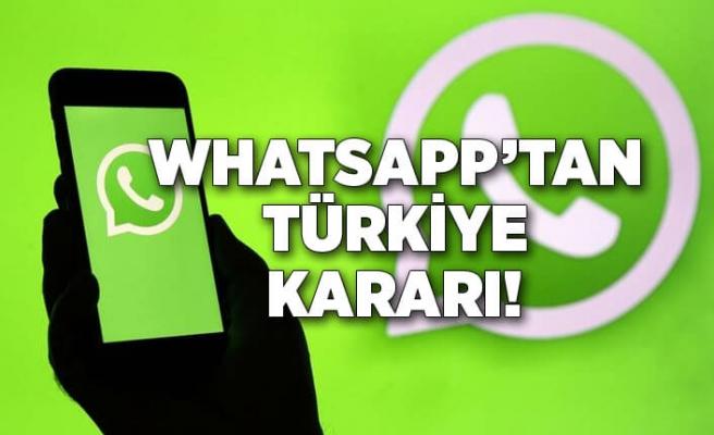 WhatsApp'tan Türkiye kararı!