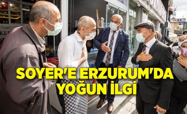 Başkan Soyer'e Erzurum'da yoğun ilgi