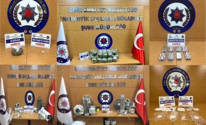 İzmir'de 1 haftadaki uyuşturucu operasyonlarında 20 tutuklama