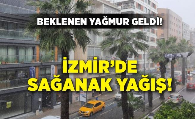 İzmir'de sağanak yağmur!