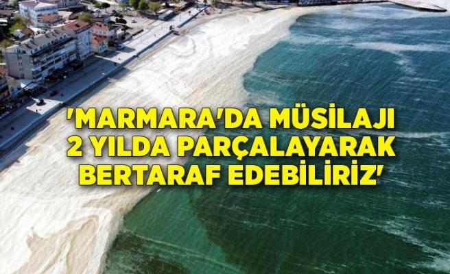 'Marmara'da müsilajı 2 yılda parçalayarak bertaraf edebiliriz'