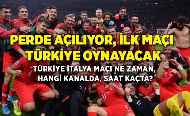 Perde açılıyor, ilk maçı Türkiye oynayacak