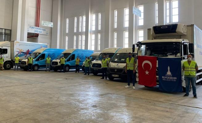 İzmir'den Adana'ya yardım eli