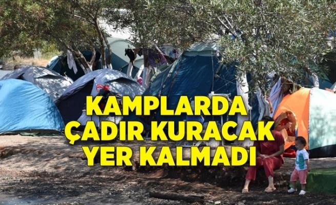 Kamplarda çadır kuracak yer kalmadı