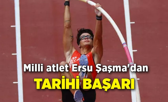 Milli atlet Ersu Şaşma'dan tarihi başarı