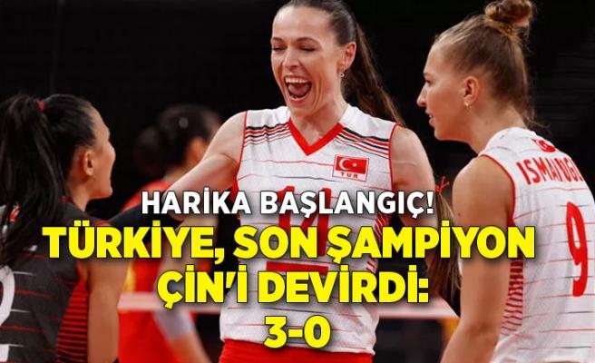 Türkiye, son şampiyon Çin'i devirdi: 3-0