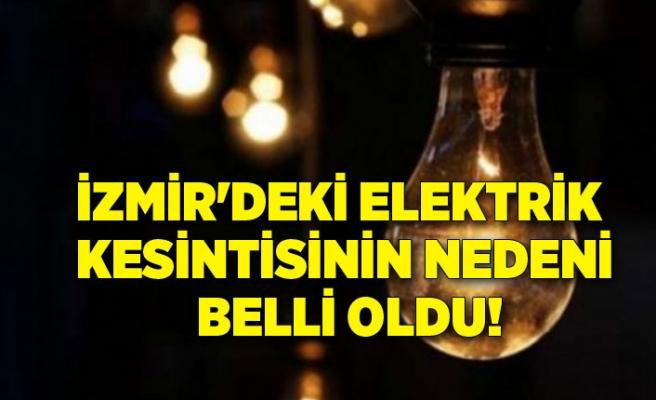 İzmir'deki elektrik kesintisinin neden belli oldu!