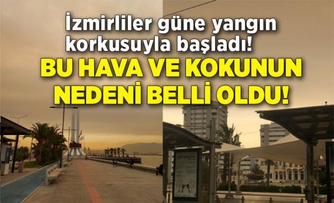 İzmirliler güne yangın korkusuyla başladı! İzmir'deki havanın nedeni belli oldu