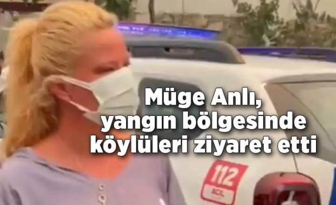 Müge Anlı, yangın felaketinin yaşandığı Antalya'da köylüleri ziyaret etti