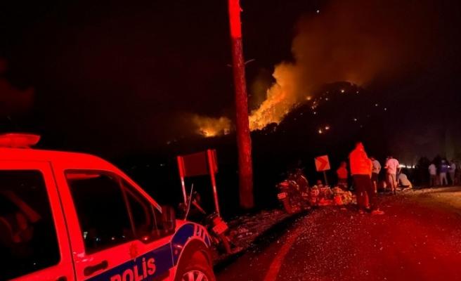 Seydikemer'deki yangında alevler kontrol altına alındı
