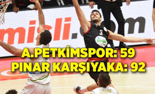 Aliağa Petkimspor: 59 - Pınar Karşıyaka: 92