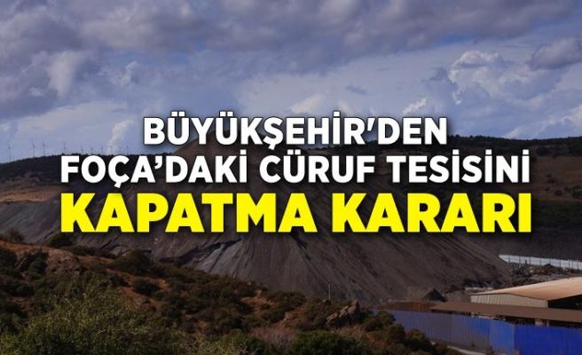 Büyükşehir'den Foça'daki cüruf tesisini kapatma kararı