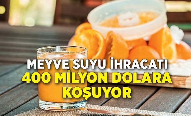 Meyve suyu ihracatı 400 milyon dolara koşuyor