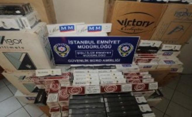 21 Bin Paket Kaçak Sigara Ele Geçirildi