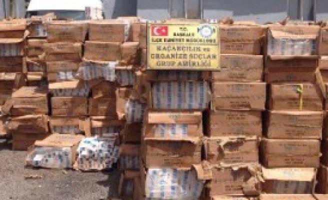 450 Bin Paket Kaçak Sigara Ele Geçirildi