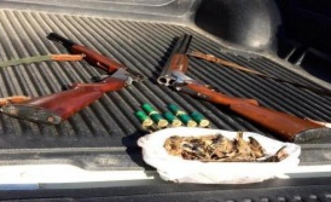 24 Serçe Vuran İki Avcıya Suçüstü