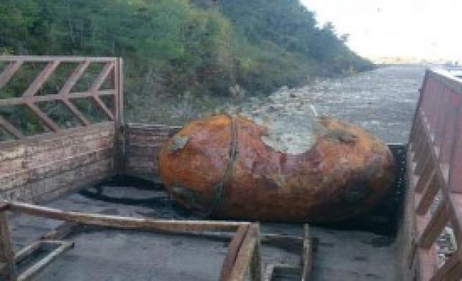 250 Kiloluk Denizaltı Mayını Bulundu