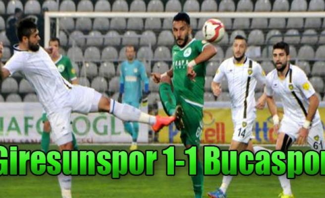 Giresunspor 1-1 Bucaspor