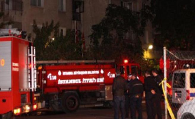 Polis Lojmanında Korkutan Yangın!