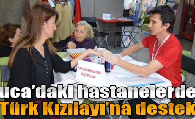 Buca'daki Hastanelerden Türk Kızılayı'na Destek